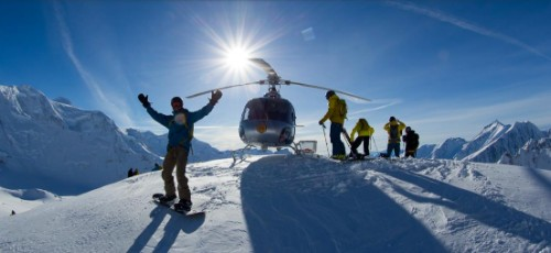 Chugach Mountain heli skiing