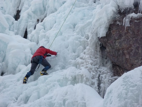 Ice climbing Colorado