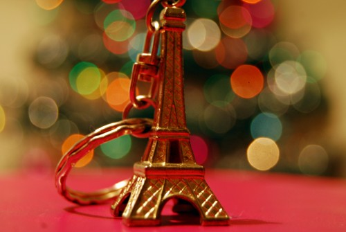 Eiffel tower keyring