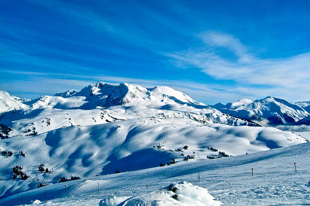Snow covered mountain in Whistler Blackcomb, Canada